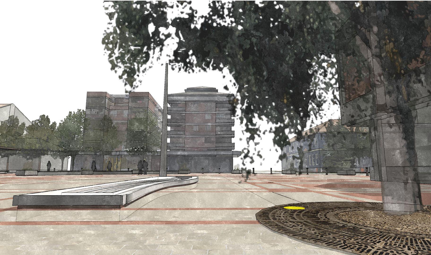 Trg u Batočini Idejni i Glavni projekat