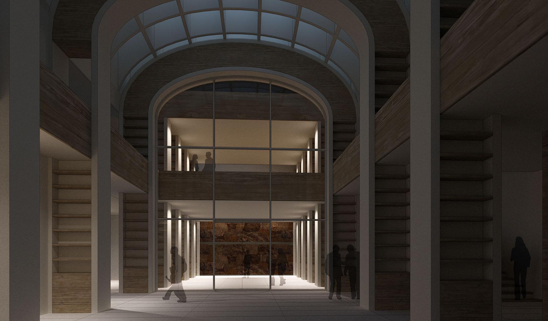 Idejno resenje dogradnje Gradske biblioteke u Novom Sadu konkurs DANS